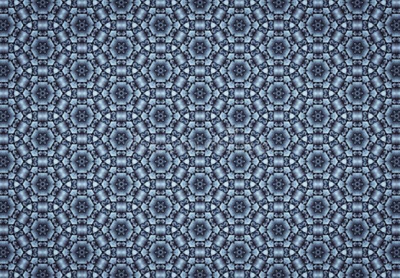 Het abstracte blauw blokkeert patroonbehang vector illustratie