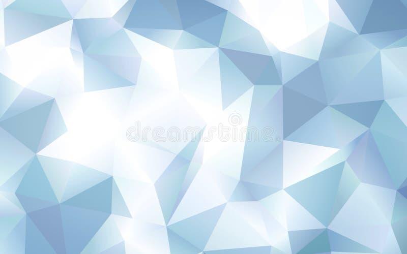 Het abstracte blauwe behang van het veelhoekpatroon royalty-vrije illustratie