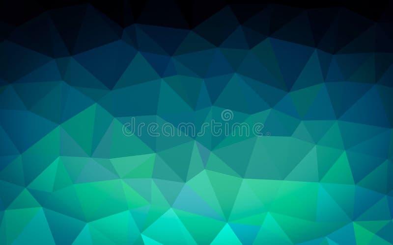 Het abstracte blauwe behang van het veelhoekpatroon stock illustratie