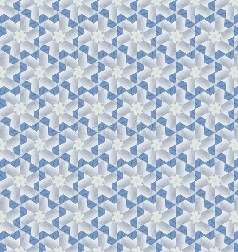Het abstracte blauwe en witte behang van het kleurenpatroon stock afbeeldingen
