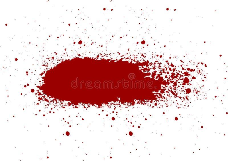 Het abstracte Bloed ploetert geschilderde geïsoleerde achtergrond IL vector illustratie