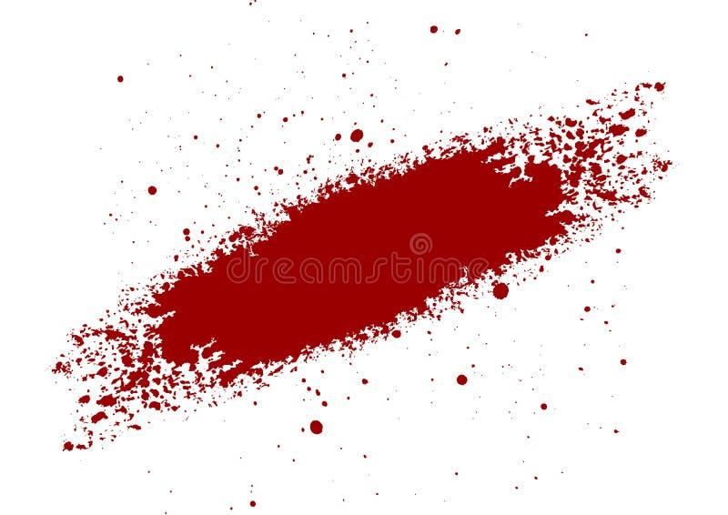 Het abstracte Bloed ploetert geschilderde geïsoleerde achtergrond IL royalty-vrije illustratie
