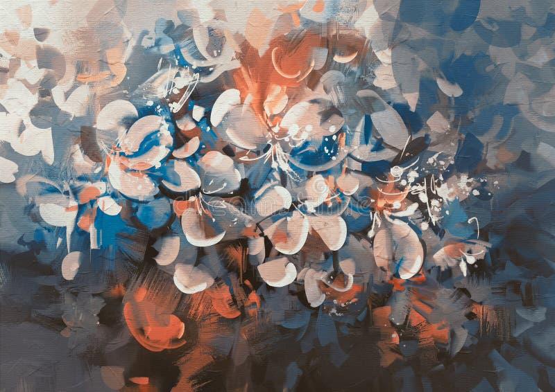 het abstracte bloemen schilderen royalty-vrije illustratie