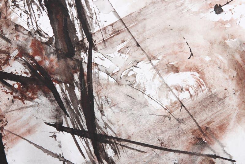 Het abstracte borstel schilderen vector illustratie