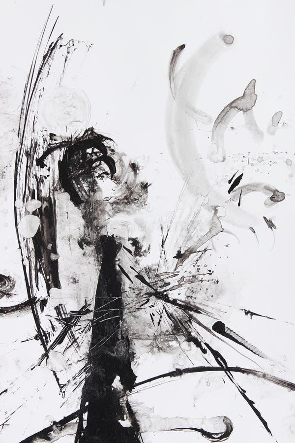 Het abstracte borstel schilderen stock illustratie