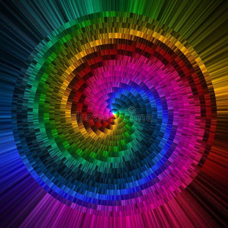 Het abstracte cirkelsprisma kleurt achtergrond vector illustratie