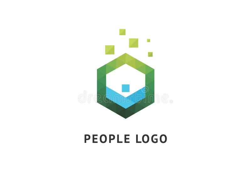 Het abstracte communautaire vectorontwerp van het embleempictogram Creatief agentschap, maatschappelijk werk, groepswerk, zaken,  stock foto's