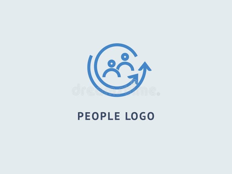 Het abstracte communautaire vectorontwerp van het embleempictogram Creatief agentschap, maatschappelijk werk, groepswerk, zaken,  vector illustratie