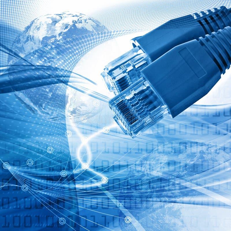 Het abstracte concept van de netwerkconnectiviteit royalty-vrije illustratie
