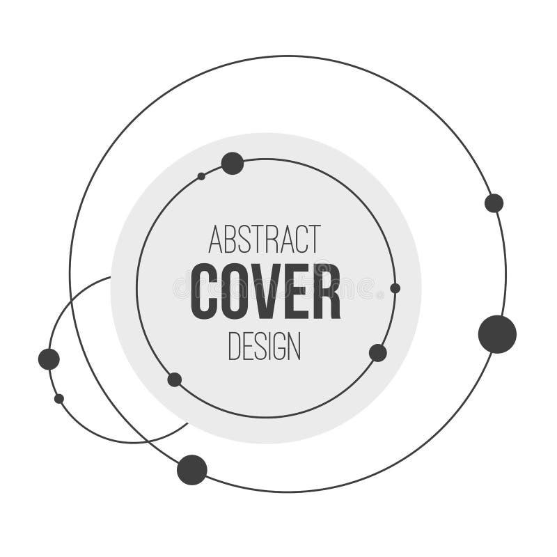 Het abstracte creatieve malplaatje van de conceptenlay-out Abstract Zonnestelsel Cirkels en knopen Het concept van de aansluting stock illustratie