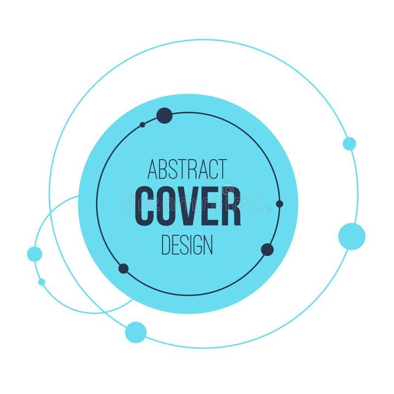 Het abstracte creatieve malplaatje van de conceptenlay-out Abstract Zonnestelsel Cirkels en knopen Het concept van de aansluting royalty-vrije illustratie