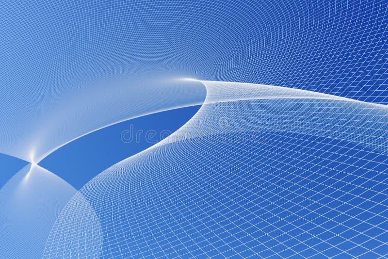 Het abstracte 3d teruggeven van blauw energienetwerk stock illustratie