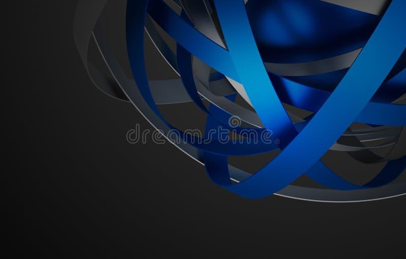 Het abstracte 3D Teruggeven van Gebied met Ringen stock illustratie