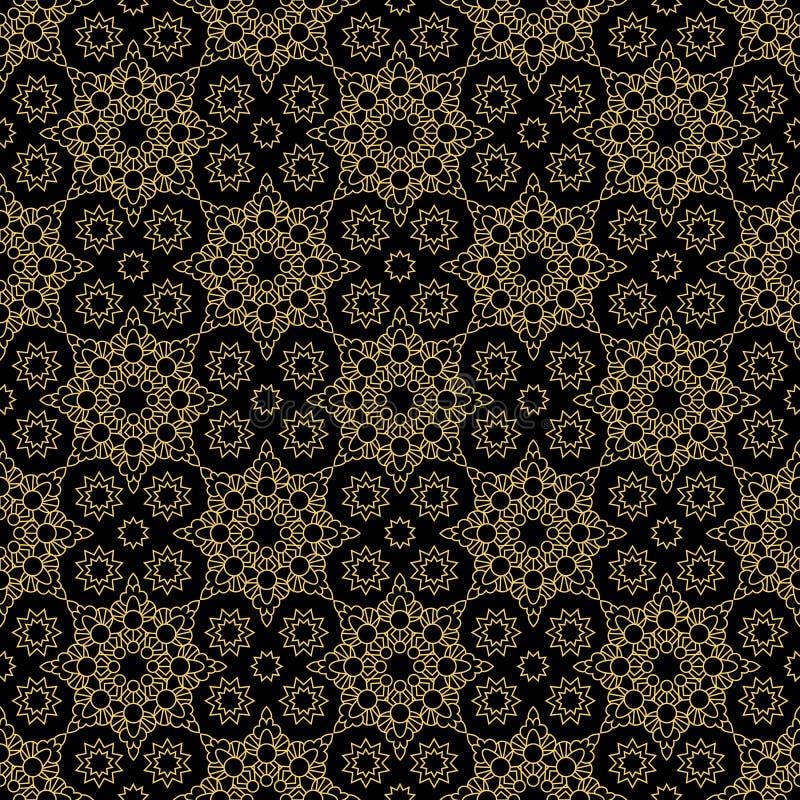 Het abstracte decoratieve oostelijke gouden patroon van de stijlluxe vector illustratie