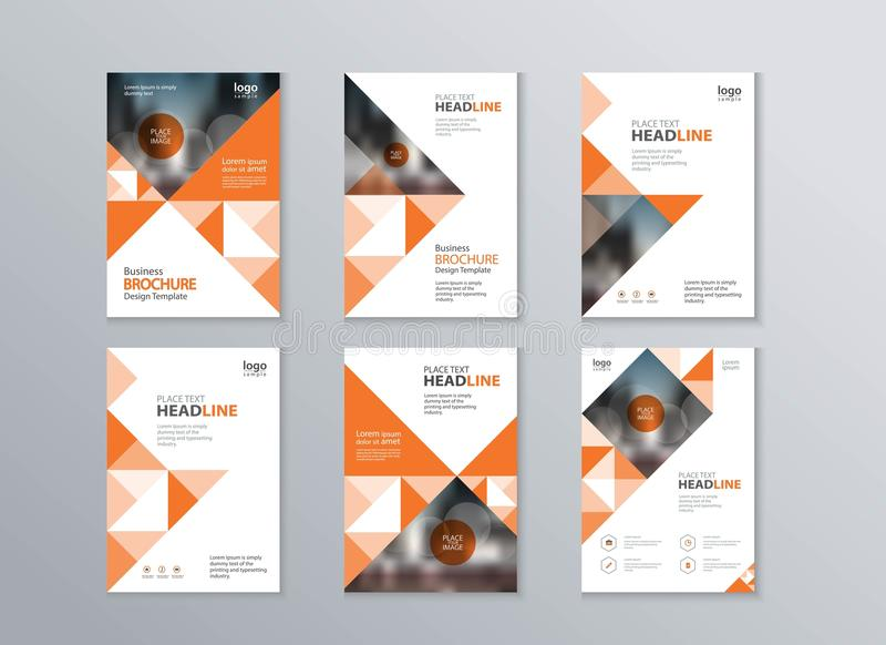 Het abstracte dekking en lay-outontwerpmalplaatje gebruikt in vlieger, brochure, jaarverslag, affiche en tijdschrift stock illustratie