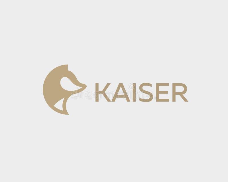 Het abstracte dierlijke malplaatje van het embleemontwerp De vector van het de voshuisdier van de hondwolf logotype stock illustratie