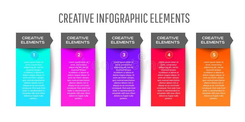 Het abstracte document malplaatje van Infographics met opties voor brochure, diagram, Webontwerp vector illustratie