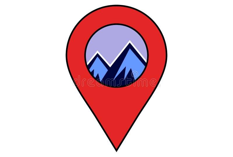 Het abstracte embleem van de bergenplaats stock illustratie
