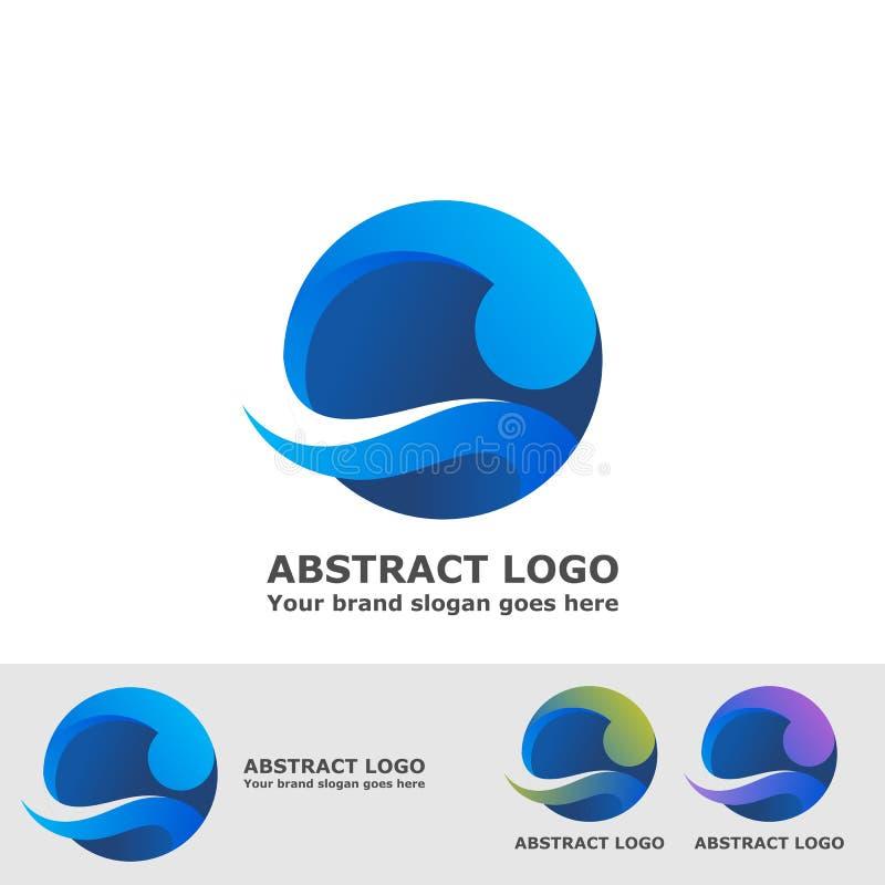 Het abstracte embleem van de cirkelgolf stock illustratie