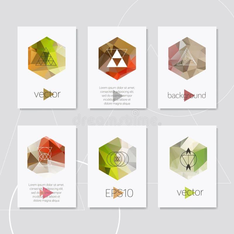 Het abstracte geometrische ontwerp van de embleem hipster kaart stock foto's