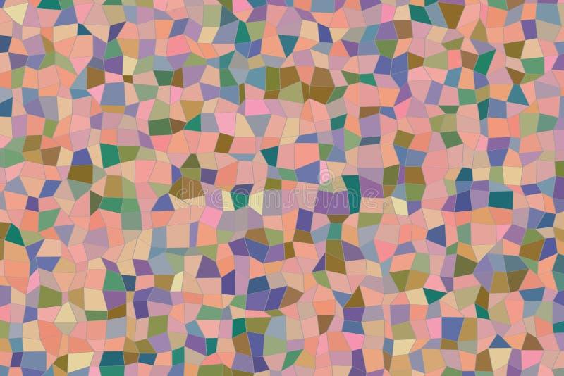 Het abstracte geometrische patroon van de vormstrook, kleurrijk & artistiek voor grafisch ontwerp, catalogus, textiel of textuurd royalty-vrije illustratie