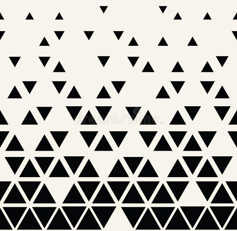 Het abstracte geometrische zwart-witte grafische halftone patroon van de ontwerpdriehoek royalty-vrije illustratie