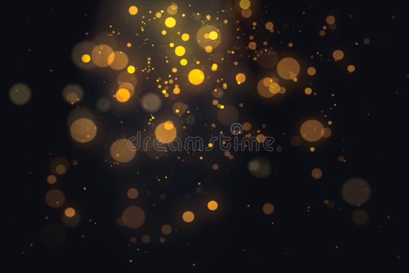 Het abstracte goud schittert bokeh licht stock illustratie