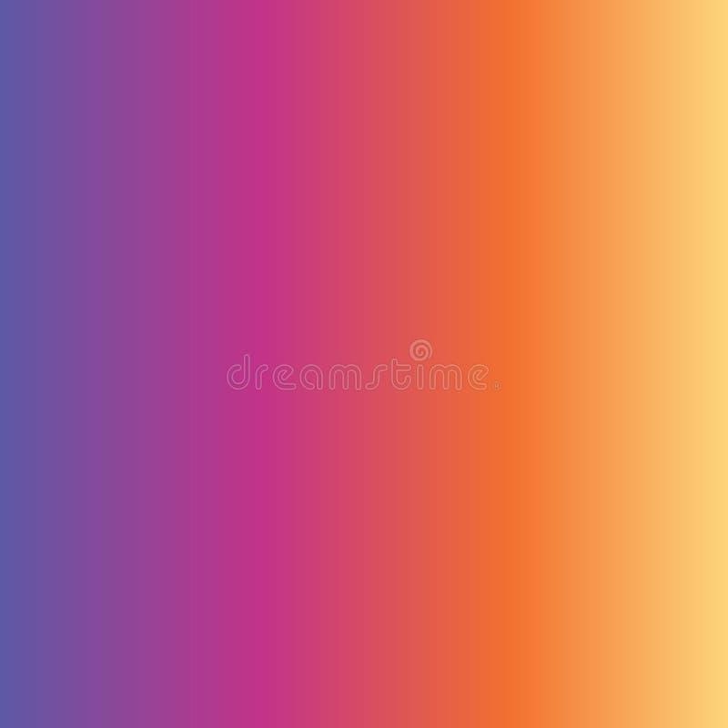 Het abstracte gradiënt purpere roze oranjegele langzaam verdwijnen als achtergrond vector illustratie