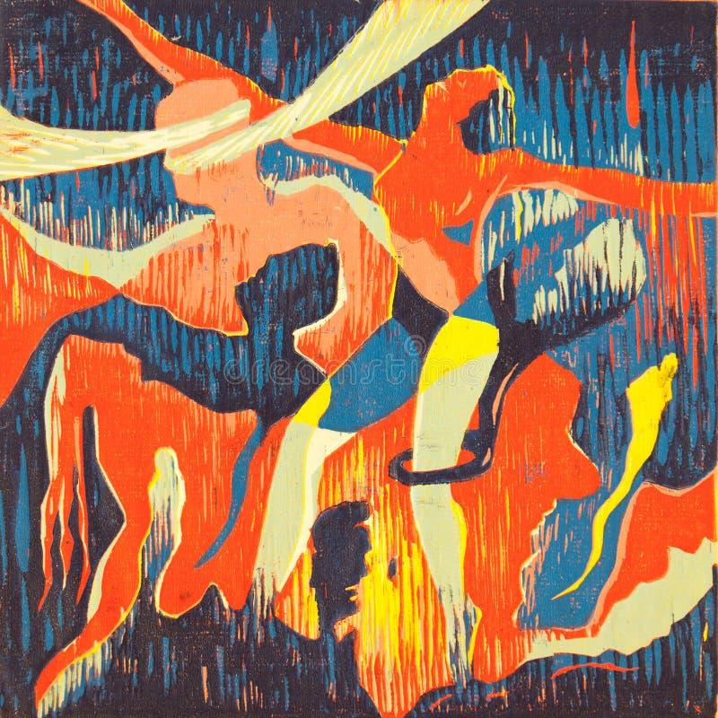Het abstracte Grafische Art. van de Druk vector illustratie
