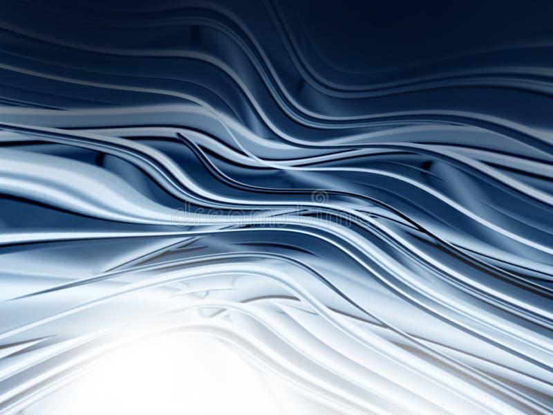 Het abstracte grijze golvende ontwerp grafiek achtergrond van FO stock illustratie