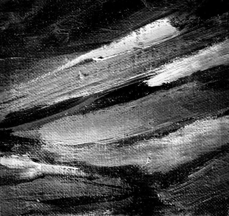Het abstracte grijze schilderen door olie op een canvas vector illustratie