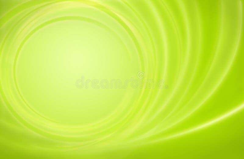 Het abstracte groene onweer van de achtergrondmachtsenergie circl royalty-vrije illustratie