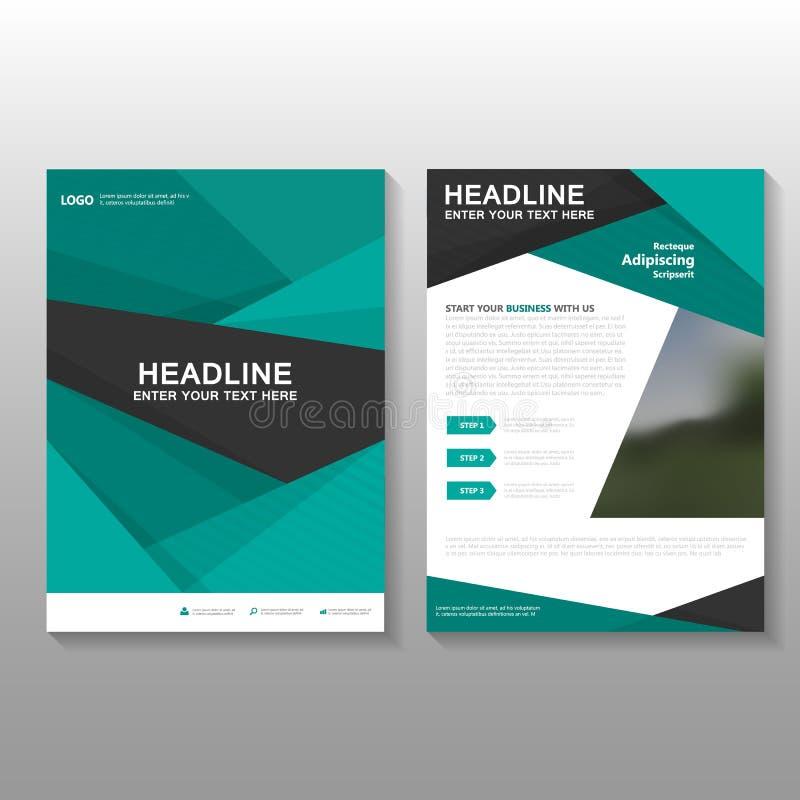 Het abstracte groene Vectorontwerp de Vlieger van het van de Bedrijfs pamfletbrochure voorstelmalplaatje, de lay-outontwerp van d royalty-vrije illustratie