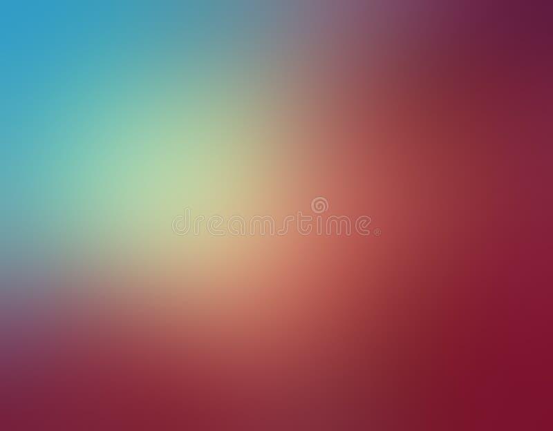 Het abstracte hemelblauw en nam roze vage kleuren als achtergrond in zacht gemengd ontwerp met gele zonneschijnschijnwerper toe royalty-vrije illustratie
