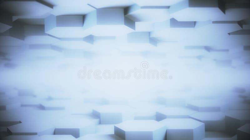 Het abstracte Hexagon Geometrische de Bewegings lichte heldere schone minimale hexagonale net van de Desktopoppervlakte Vlotte mo vector illustratie
