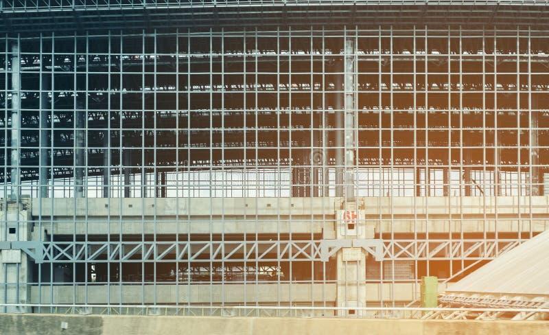 Het abstracte kader van het bouwstaal, Concept ergonomie, Gestemd beeld stock foto