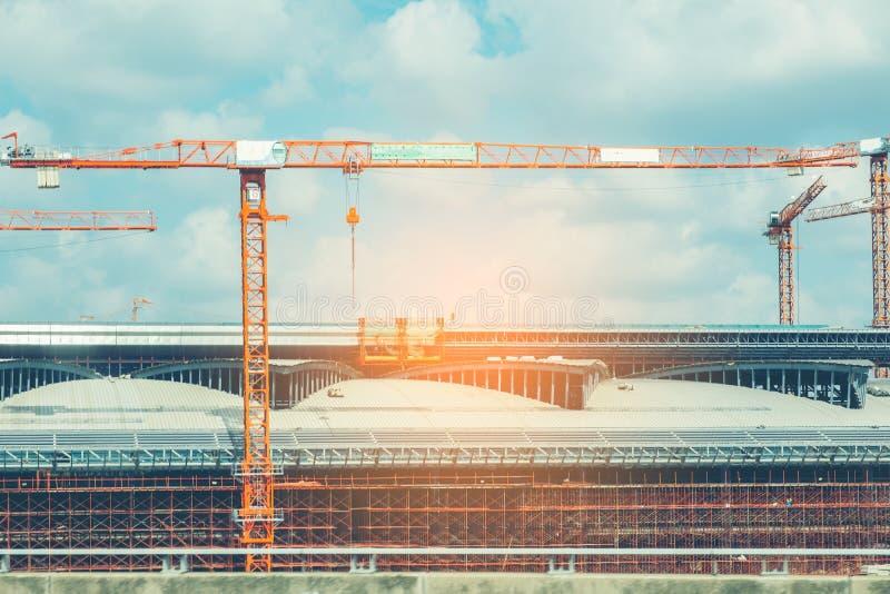 Het abstracte kader van het bouwstaal, Concept ergonomie, Gestemd beeld royalty-vrije stock foto