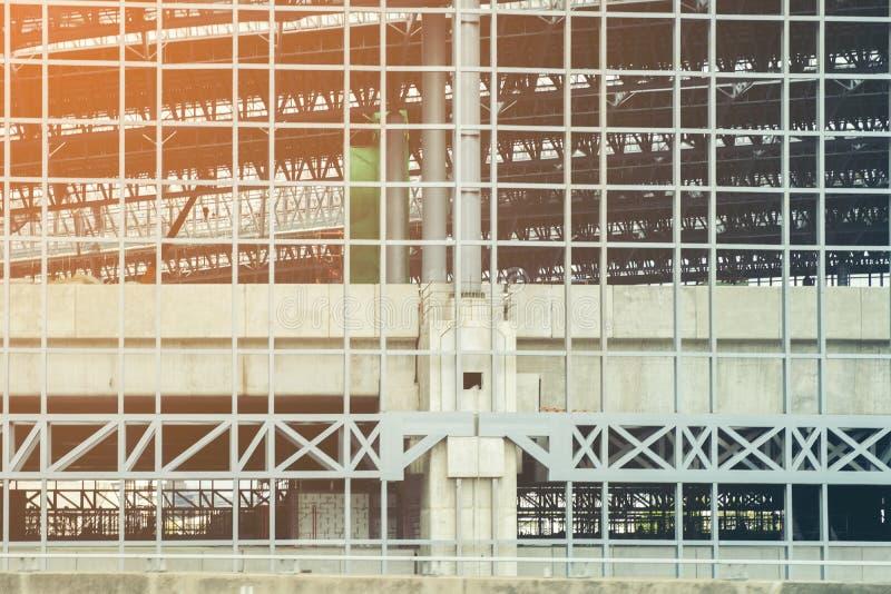 Het abstracte kader van het bouwstaal, Concept ergonomie, Gestemd beeld royalty-vrije stock fotografie