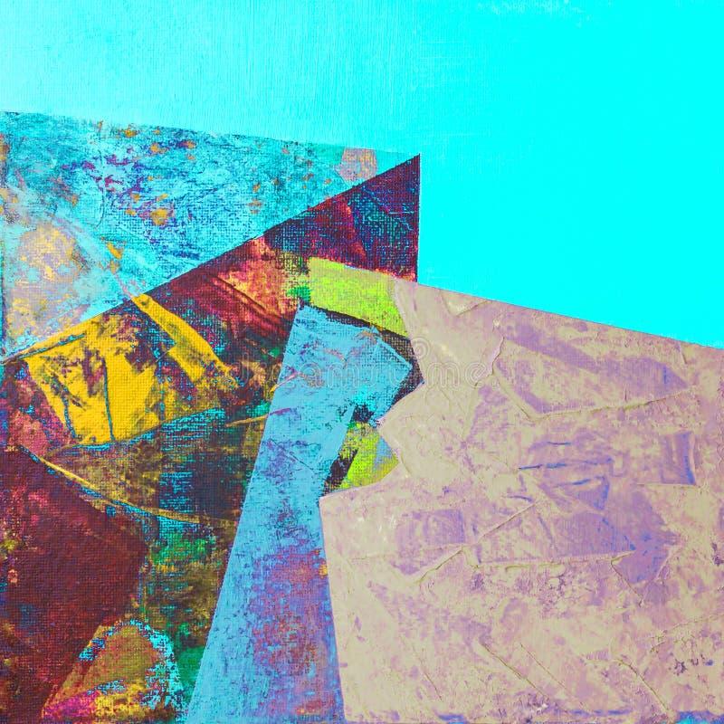 Het abstracte kleurrijke acryl schilderen stock foto's