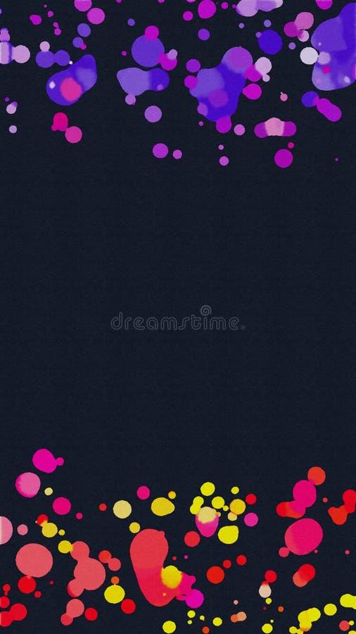 Het abstracte kleurrijke kader van de waterverfplons vector illustratie