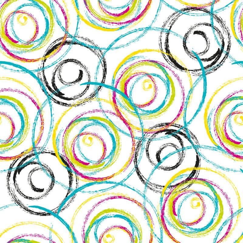 Het abstracte kleurrijke ontwerp van het wervelingen naadloze patroon vector illustratie