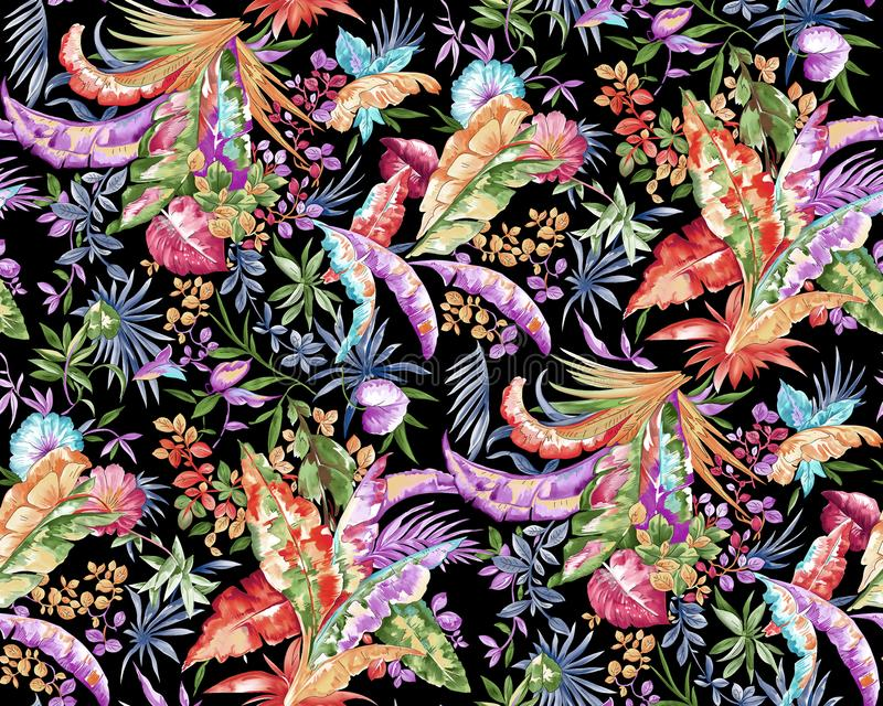 Het abstracte kleurrijke patroon van de blokdruk royalty-vrije illustratie