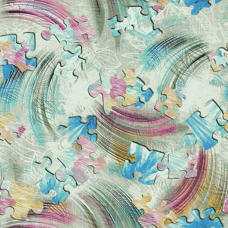 Het abstracte kleurrijke patroon van de blokdruk vector illustratie