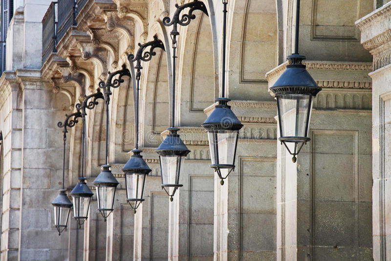 Het abstracte licht van de lampenstraat royalty-vrije stock foto's