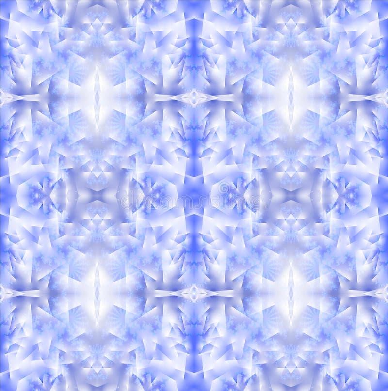 Het abstracte lichtblauwe lilac wit van het vorstpatroon stock illustratie