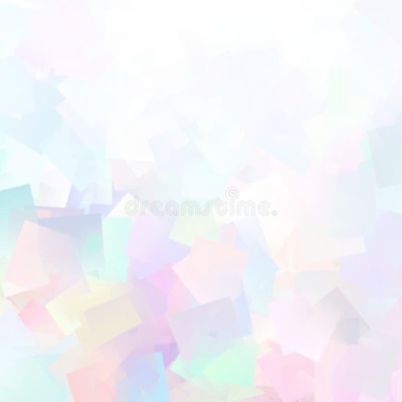 Het abstracte lichte patroon van de waterverf roze blauwe pastelkleur Creatieve kunstachtergrond Vage vlekken op een achtergrond royalty-vrije illustratie