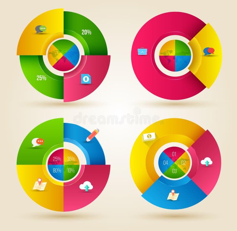 Het abstracte malplaatje van bedrijfsinfographicsopties stock illustratie