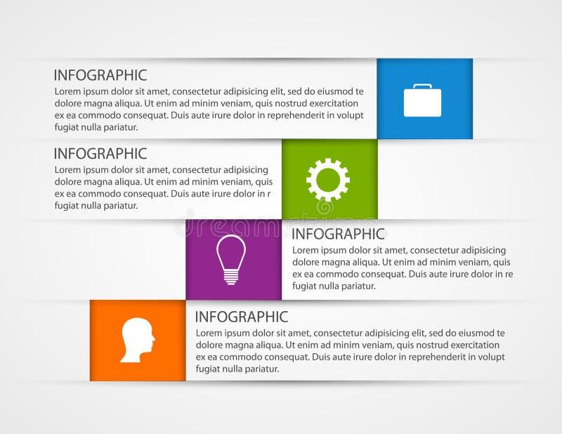Het abstracte malplaatje van bedrijfsoptiesinfographics stock illustratie