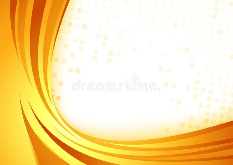 Het abstracte malplaatje van de certificaat oranje grens stock illustratie