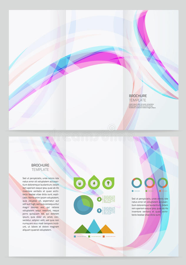 Het abstracte Malplaatje van de golf Vectorbrochure royalty-vrije illustratie